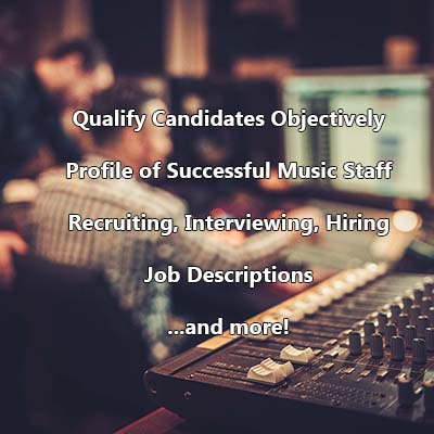 Music Staff Recruitment Resource (Bundle)