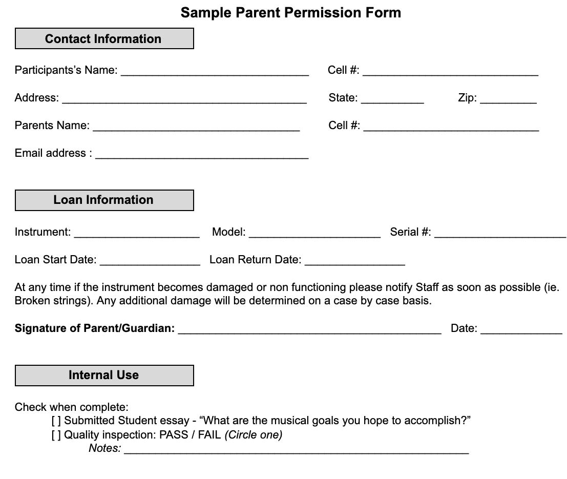 Instrument Loaner Program